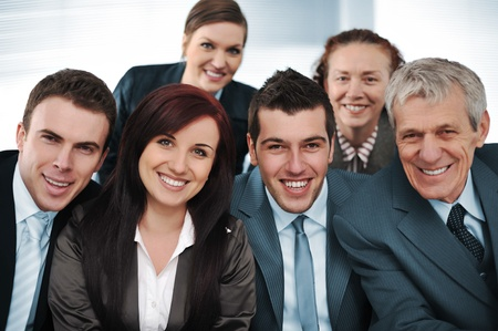 department head: Closeup business group of six Stock Photo