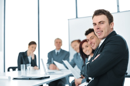 A group of business people  in a conference room Stock Photo - 13382019
