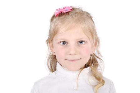 hairpin: Pretty blonde little girl portrait