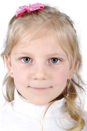 Pretty blonde little girl portrait photo