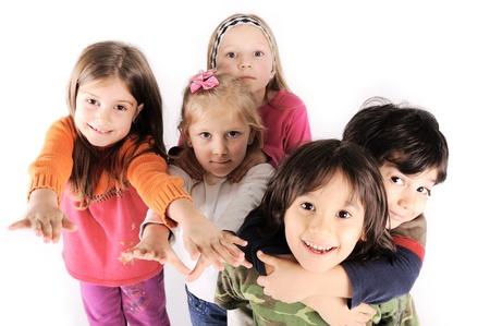 kid friendly: Group children Stock Photo
