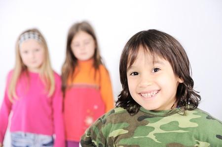 3 4 length: Group children Stock Photo