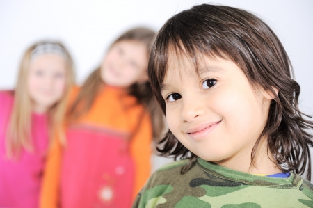 5 year old girl: Children group Stock Photo