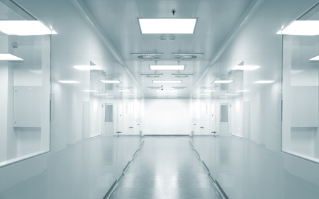 hospital corridor: Hospital research lab