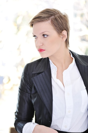 Business woman with short hair Stock Photo - 13665097