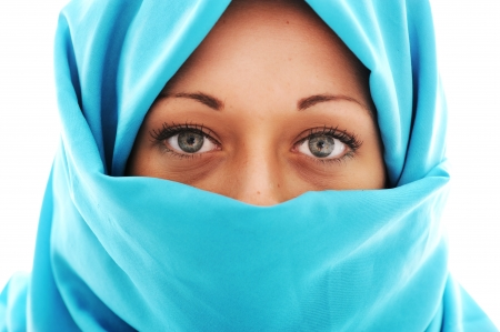 Young beautiful muslim woman photo