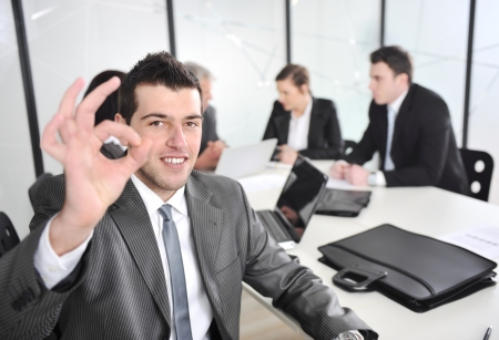 Portrait of young businessman in the office photo