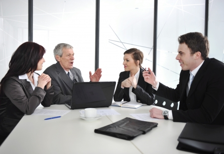 Business people discussion at meeting room Stock Photo - 13667682
