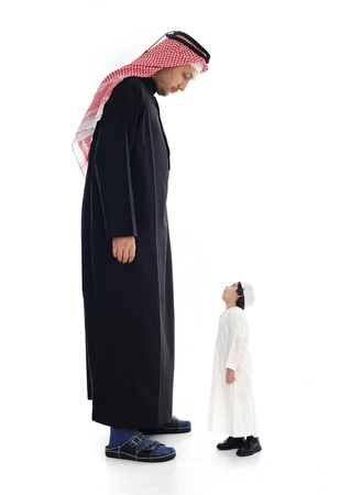 dwarves: Arabic big and small, adult and child