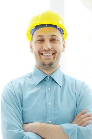 Young confident arhitect