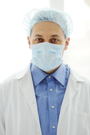 Doctor with a mask at hospital Stock Photo - 13827048