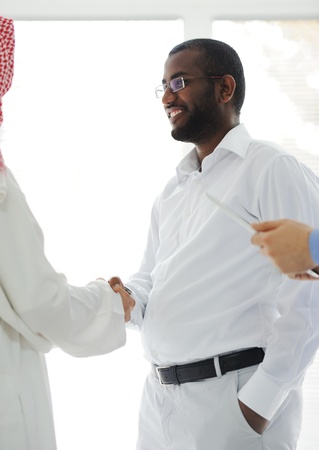 Arabic and African American business men Stock Photo - 13827930