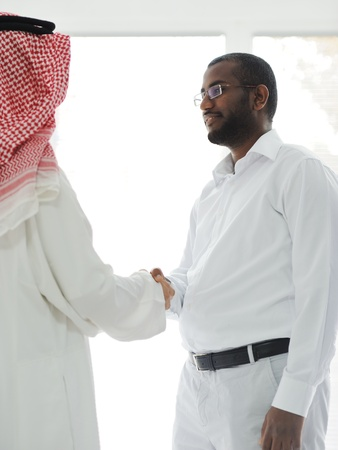 Arabic and African American business men Stock Photo - 13827884