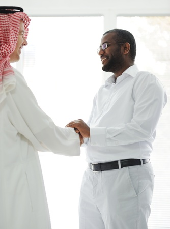 Arabic and African American business men Stock Photo - 13827963