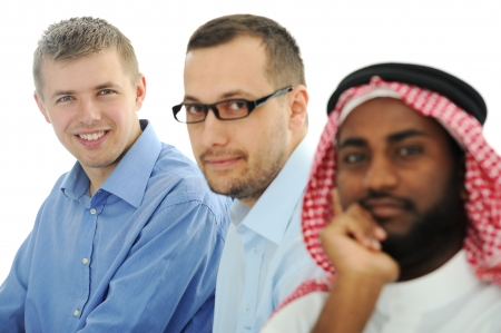 Multicultural young business team photo