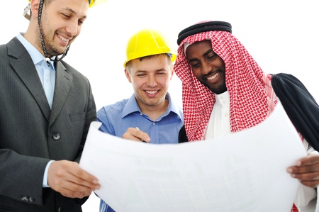 gulf: Business people having consultanting about new project at Middle east