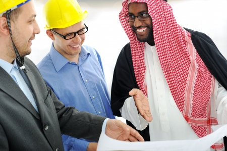 arab people: Business people having consultanting about new project at Middle east