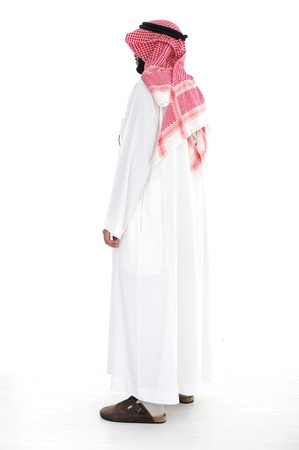 middle eastern clothes: Arabic man standing
