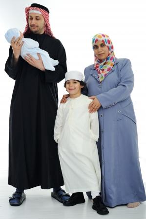 gulf: Happy Muslim family