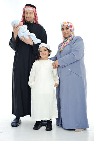 Happy Muslim family photo