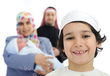 Happy Arabic family photo