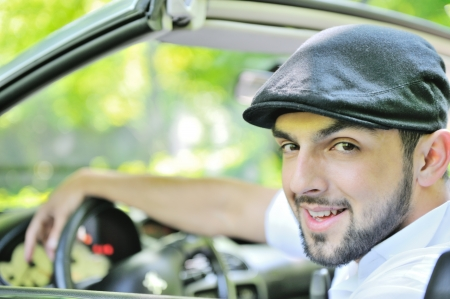 Young guy behind the wheel Stock Photo - 13823962