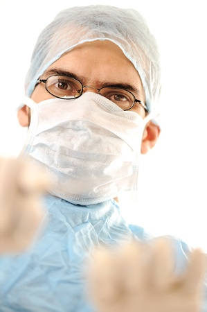 Doctor surgeon before going into surgery Stock Photo - 14055048