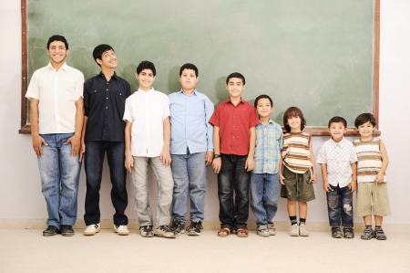 aging concept: From preschool to college boys, aging concept