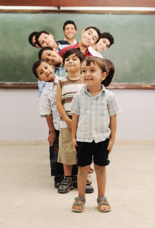 ethnic children: Children at school classroom