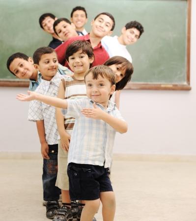 middle class: Los ni�os en el aula escolar Foto de archivo