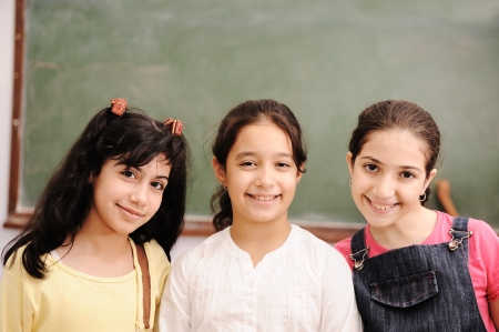 hispanic girls: Children at school classroom