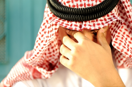 Stressed Arabic man photo