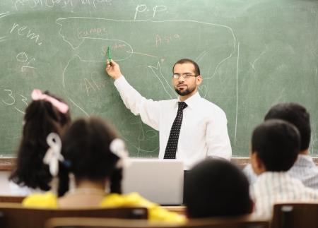 leraar: Kinderen op school klas