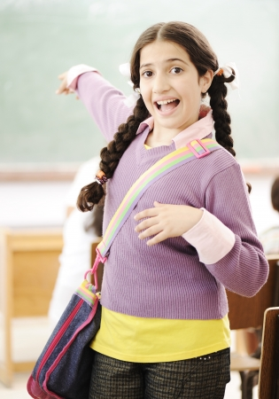 Cute little girl at school photo