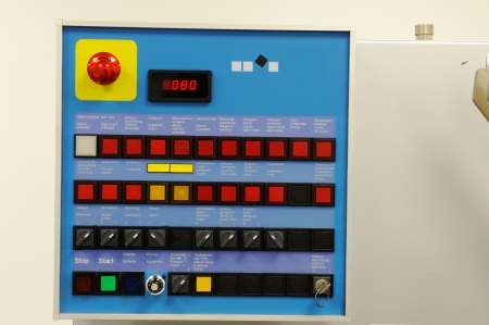 Modern industrial control panel photo