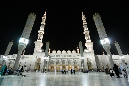 Madina Mosque at night Editorial