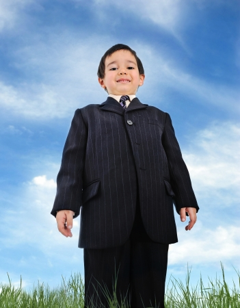 confrontational: Well dressed kid (business)