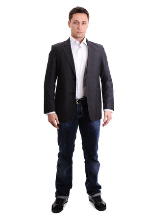 Full length portrait of a young man standing photo