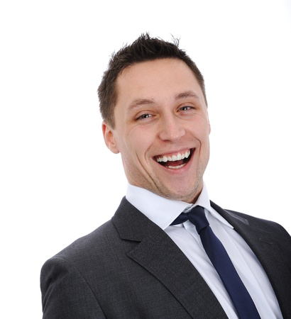 Businessman laughing Stock Photo - 14580950