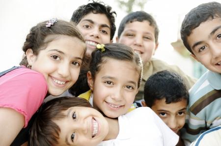 Group of happy children photo