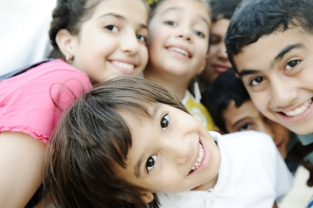 genuine good: Group of happy children, beautiful image