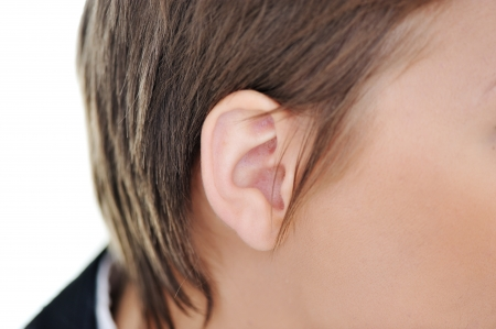 Female ear closeup photo