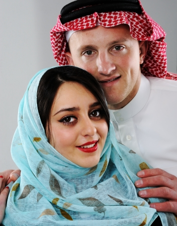 Arabic couple, wife and husband photo