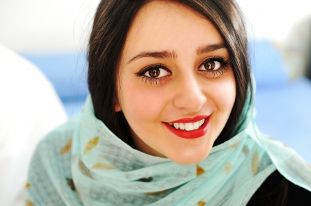 pakistani females: Happy sensual Arabic woman