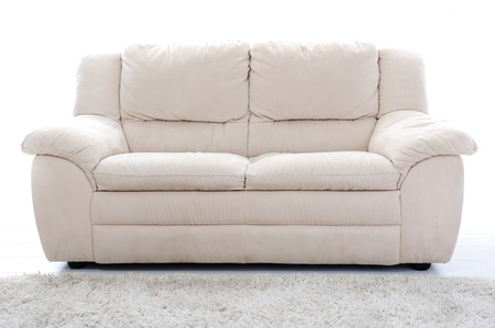 couch: White sofa
