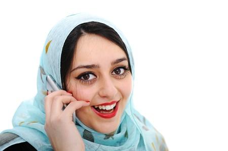 verbal: Arabic girl talking on cell phone