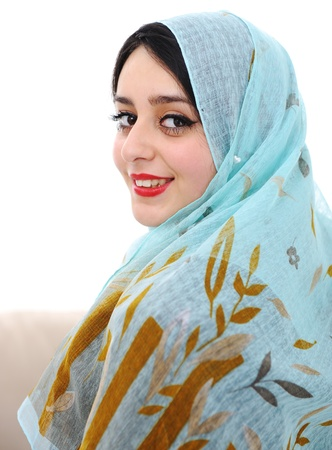 east indians: Arabic woman Stock Photo