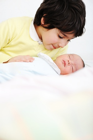 brothers and sisters: Newborn baby