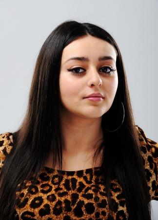 arab model: Beautiful brunette girl face