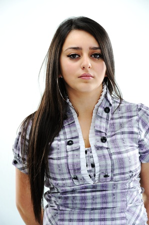 arab girl: Beautiful brunette girl face